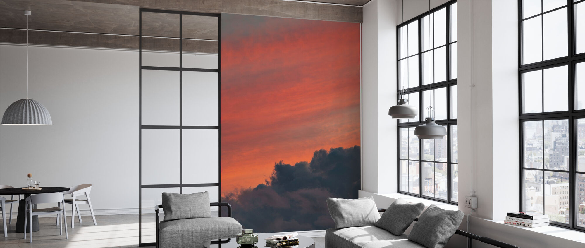 Orange himmel - Tapet - Kontor