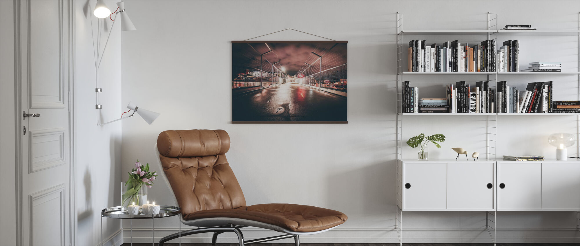 Dark Steel Fence - Poster - Living Room