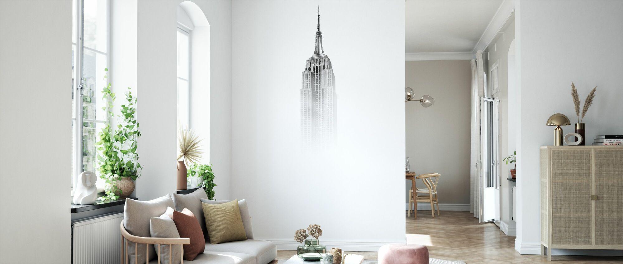 Misty Empire State - Tapete - Wohnzimmer