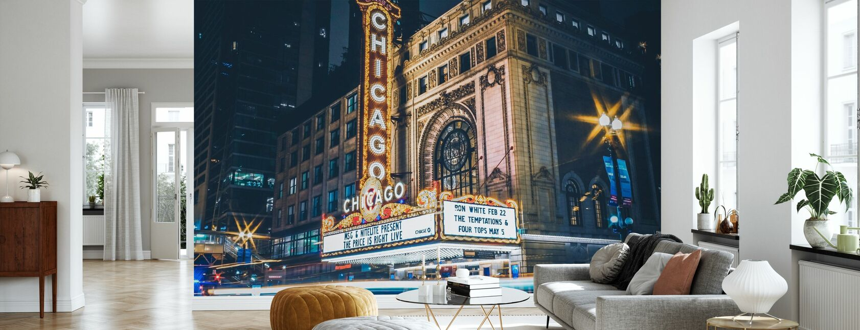 Chicago Theater - Behang - Woonkamer