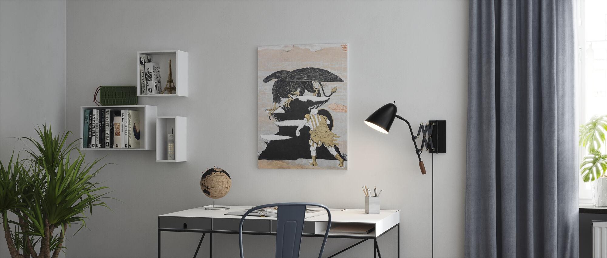 Gatukonst målning - Canvastavla - Kontor