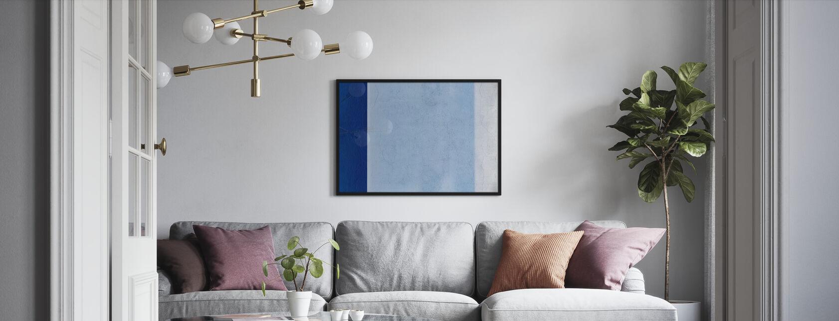 Blaue Wand - Poster - Wohnzimmer