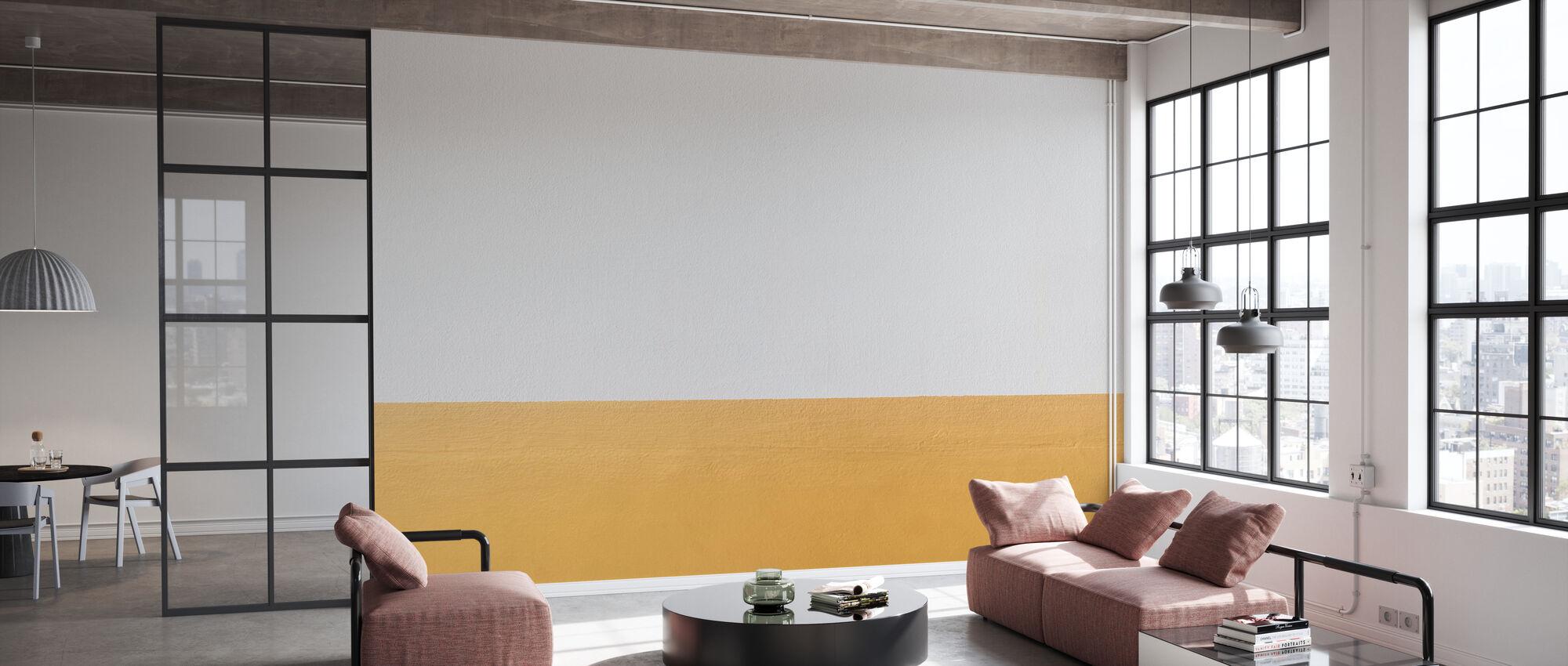 Orange och vit vägg - Tapet - Kontor