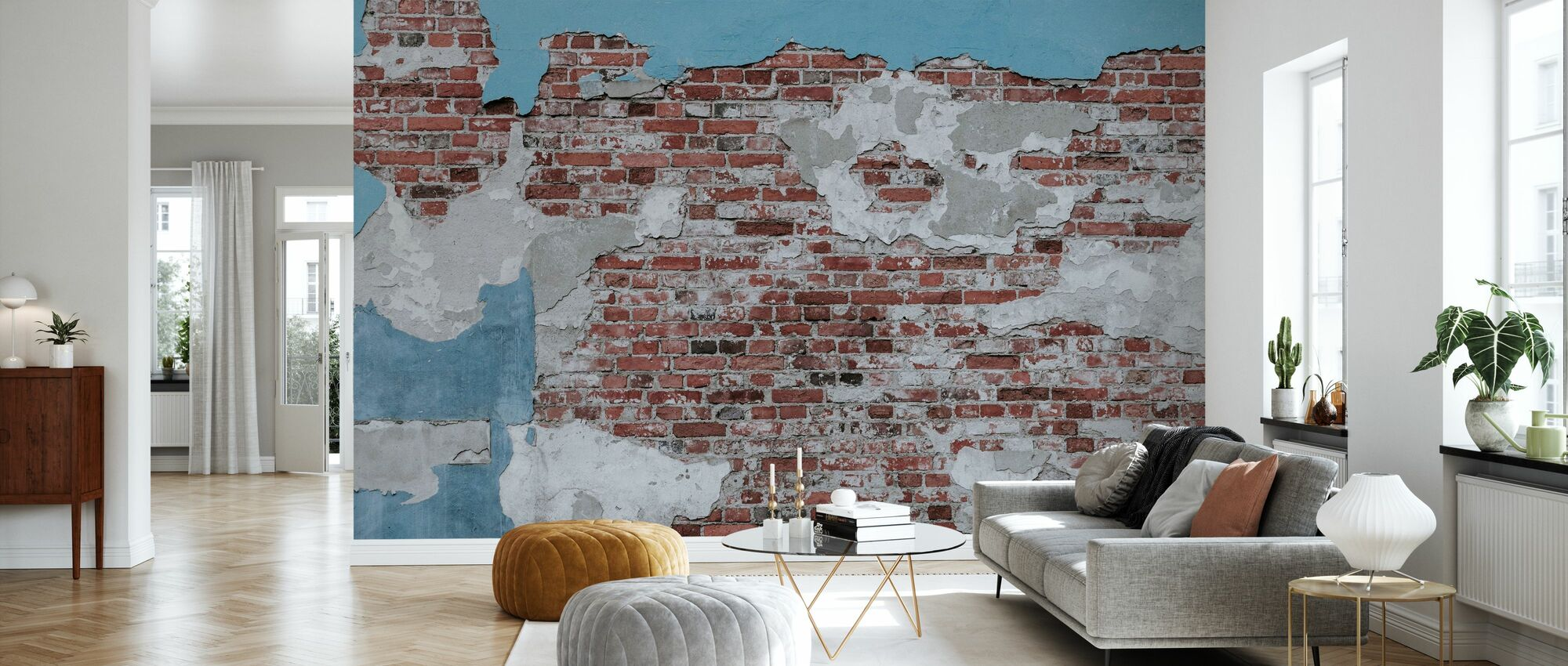 Worn Out Wall - Wallpaper - Living Room