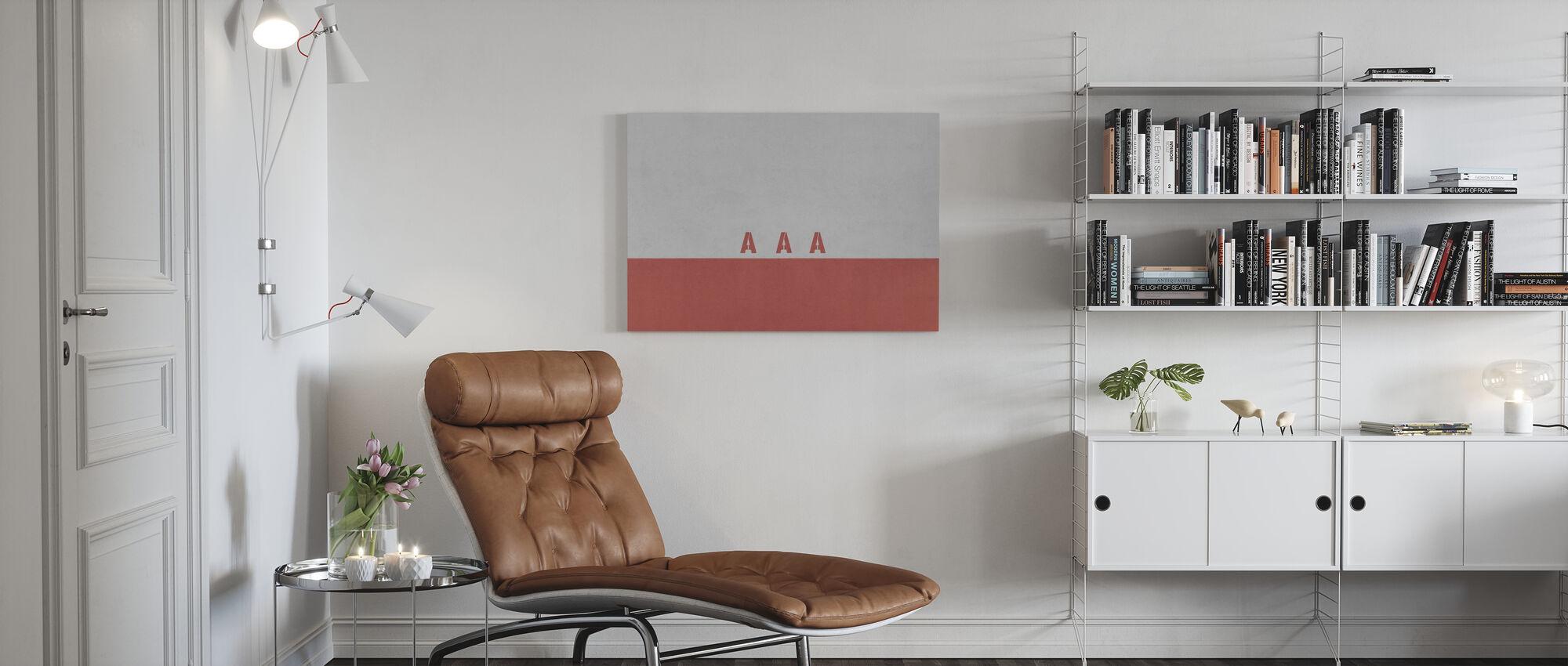 AAA Wall - Canvas print - Living Room