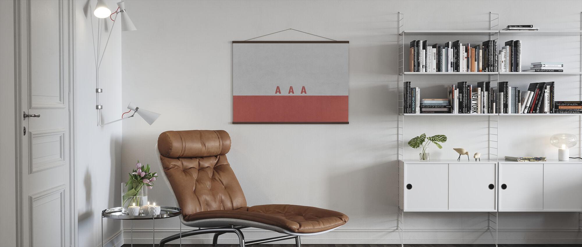 AAA Wall - Poster - Living Room