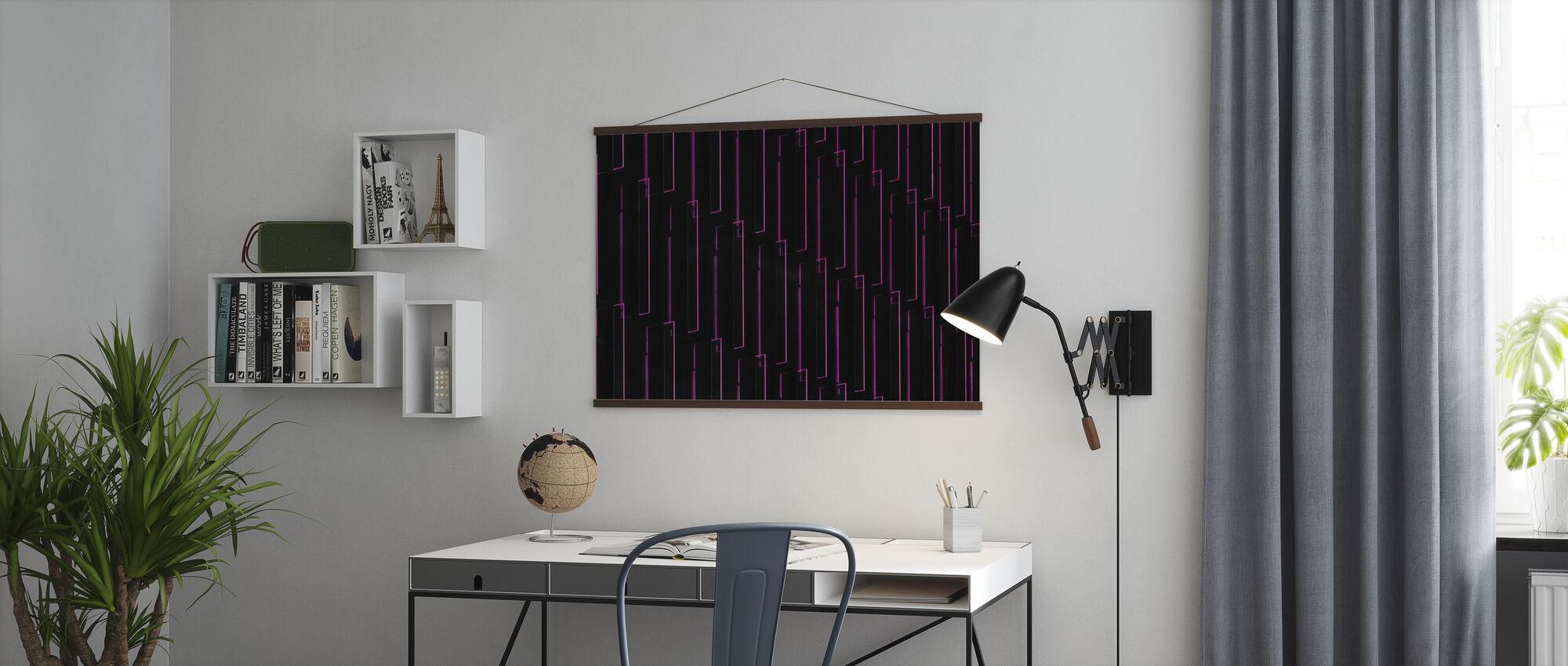 Purple Neon Lights - Poster - Office