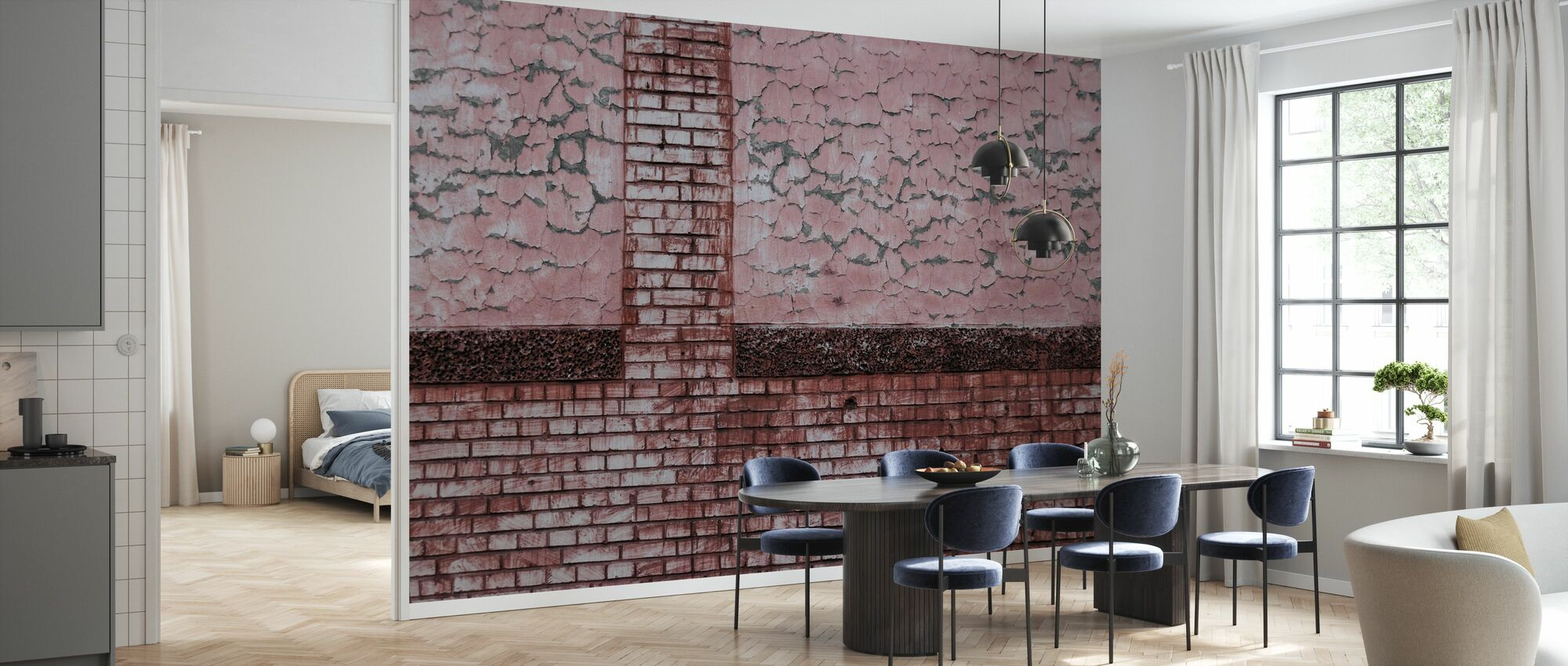 Bricks and Pattern - Wallpaper - Kitchen