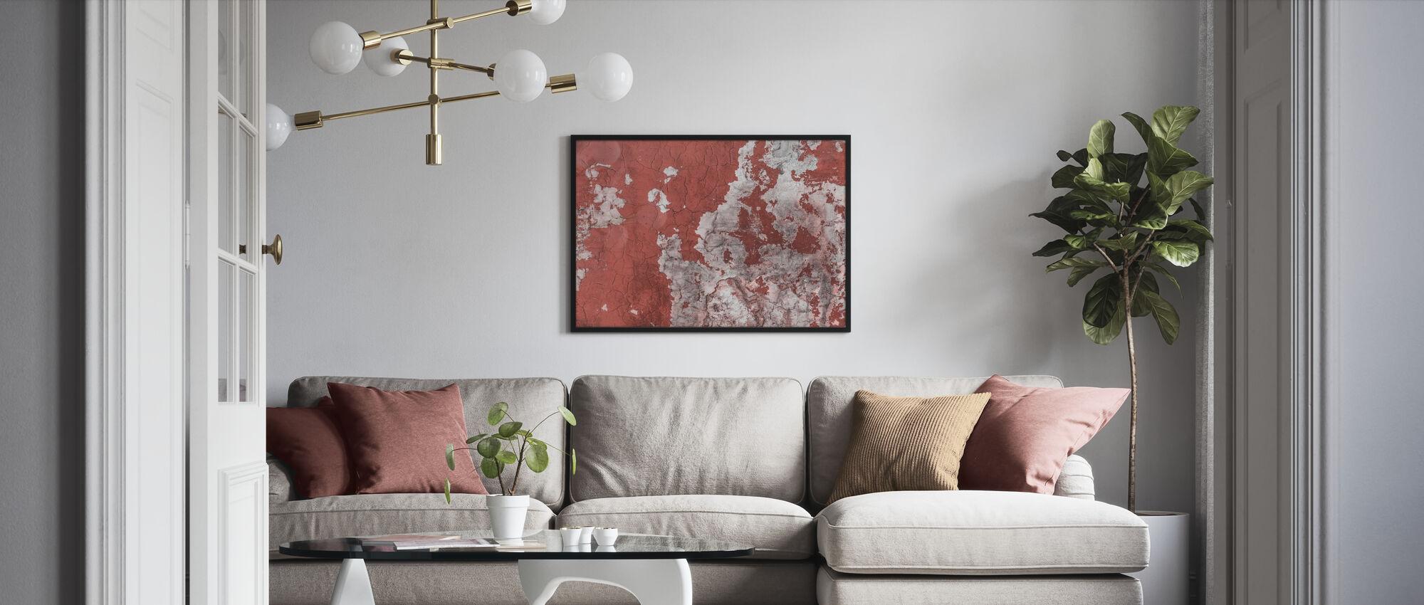 Pesty pois ruskea seinä - Kehystetty kuva - Olohuone