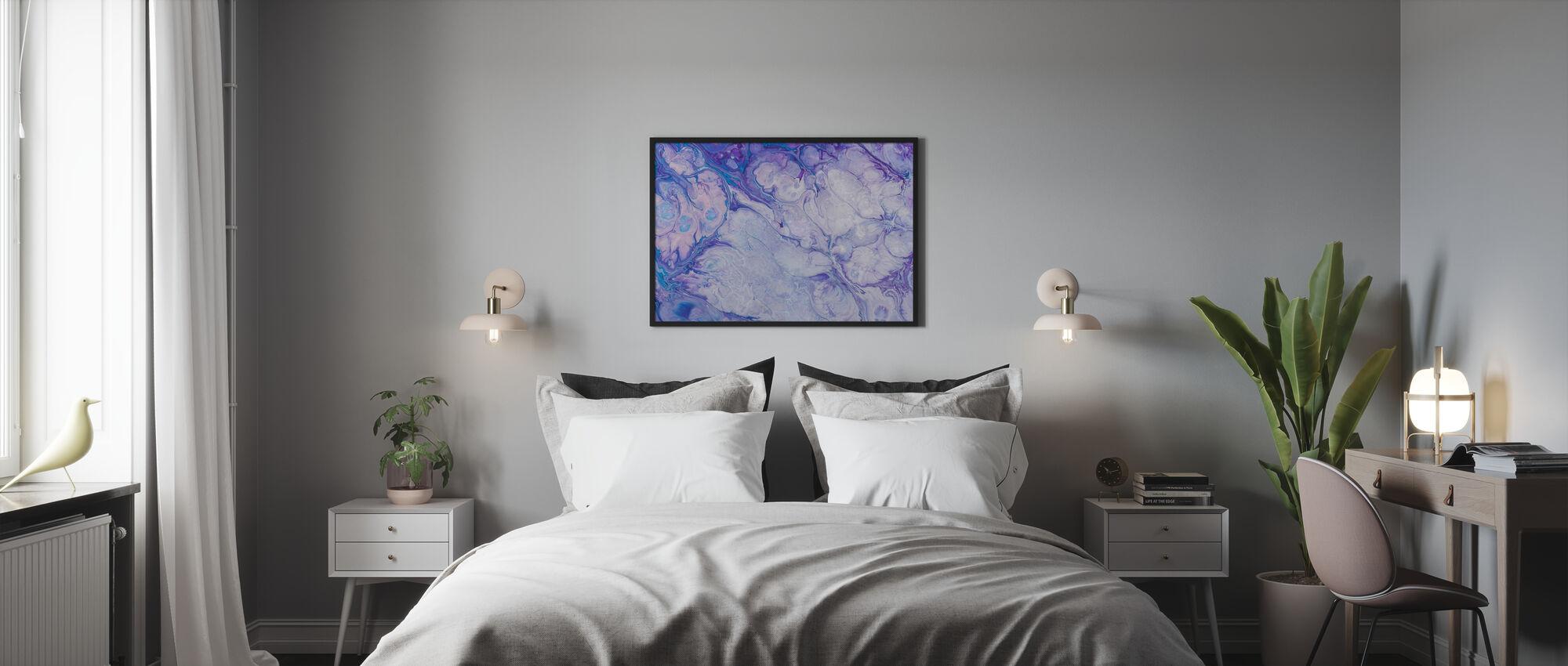 Blue Flower Pattern - Poster - Bedroom