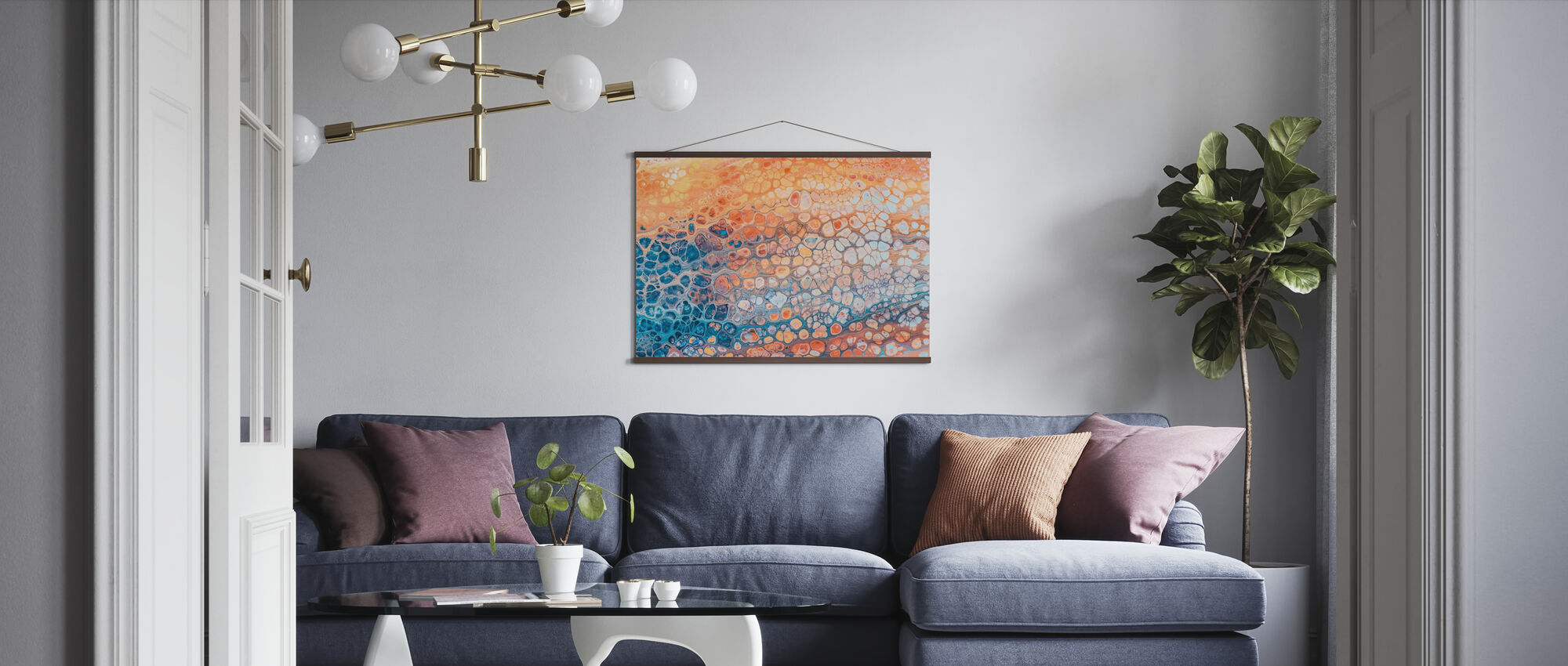 Colorful Rock - Poster - Living Room