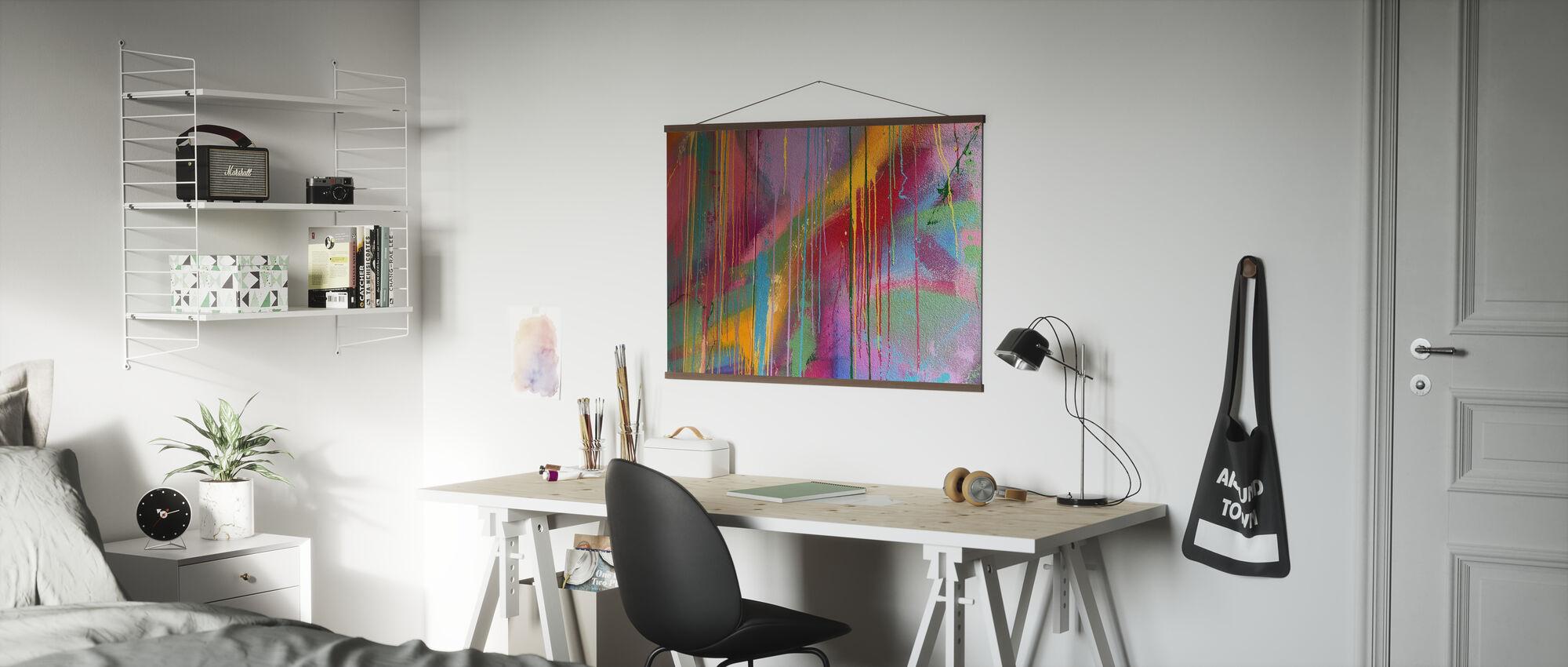 Colorful Wall Graffiti - Poster - Office