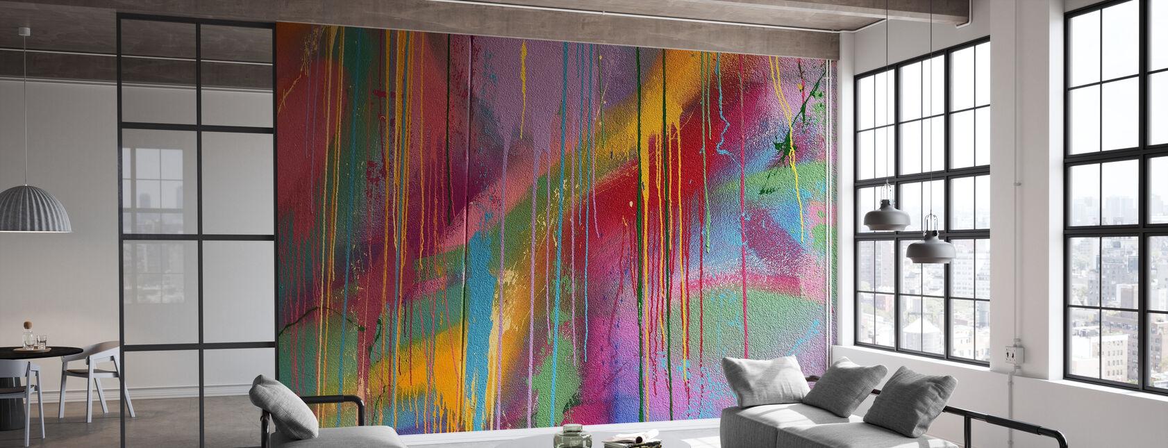 Fargerik Vegg Graffiti - Tapet - Kontor