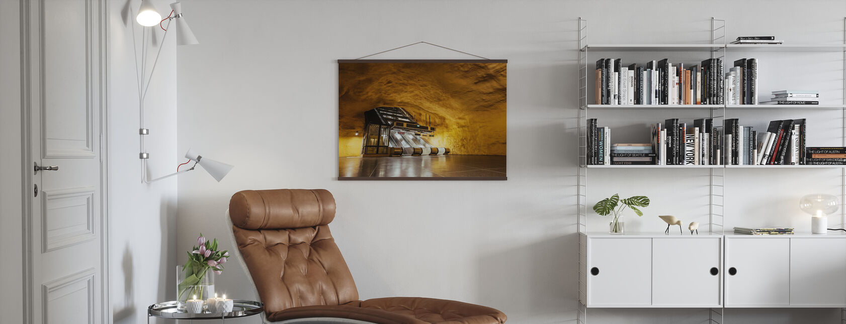 Subway Escalator - Poster - Living Room
