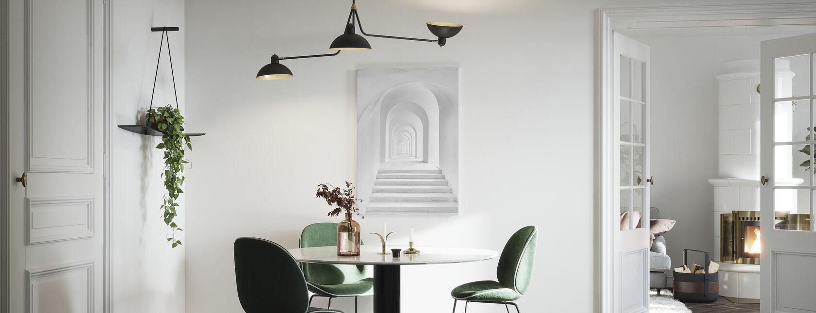 White Archway - Canvas print - Kitchen