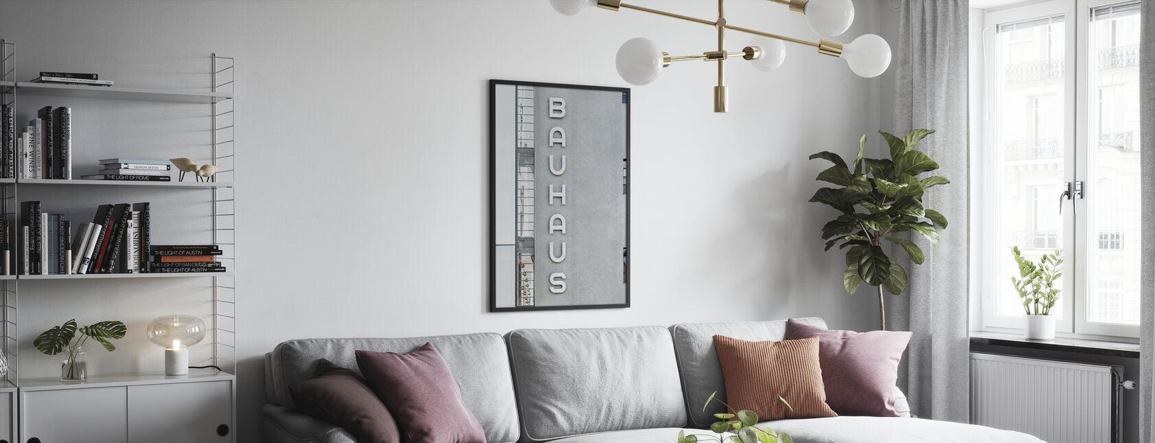 Bauhaus-bygning skrifttype - Plakat - Stue