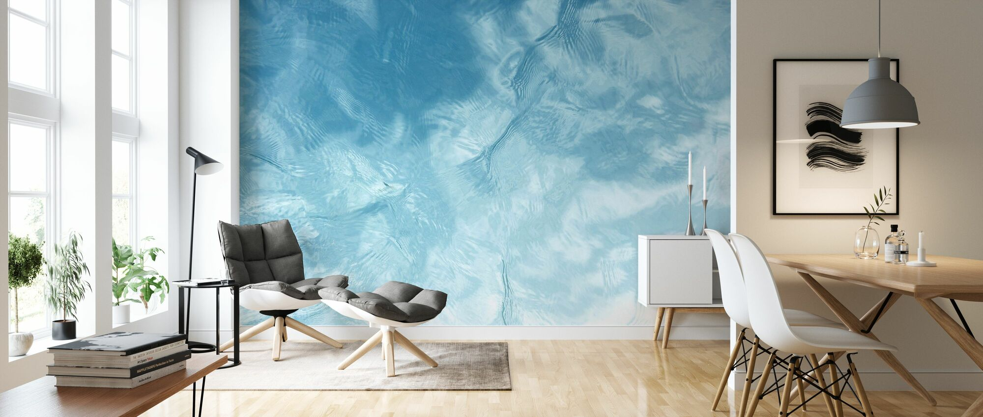 Blue Water Ripple - Wallpaper - Living Room