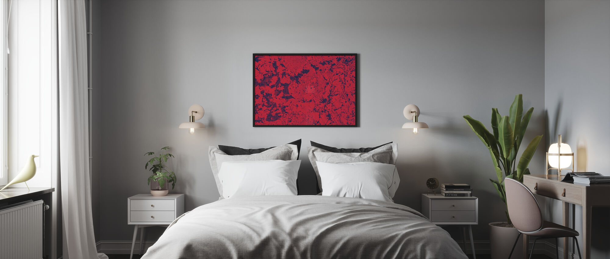 Red Rug Texture - Poster - Bedroom
