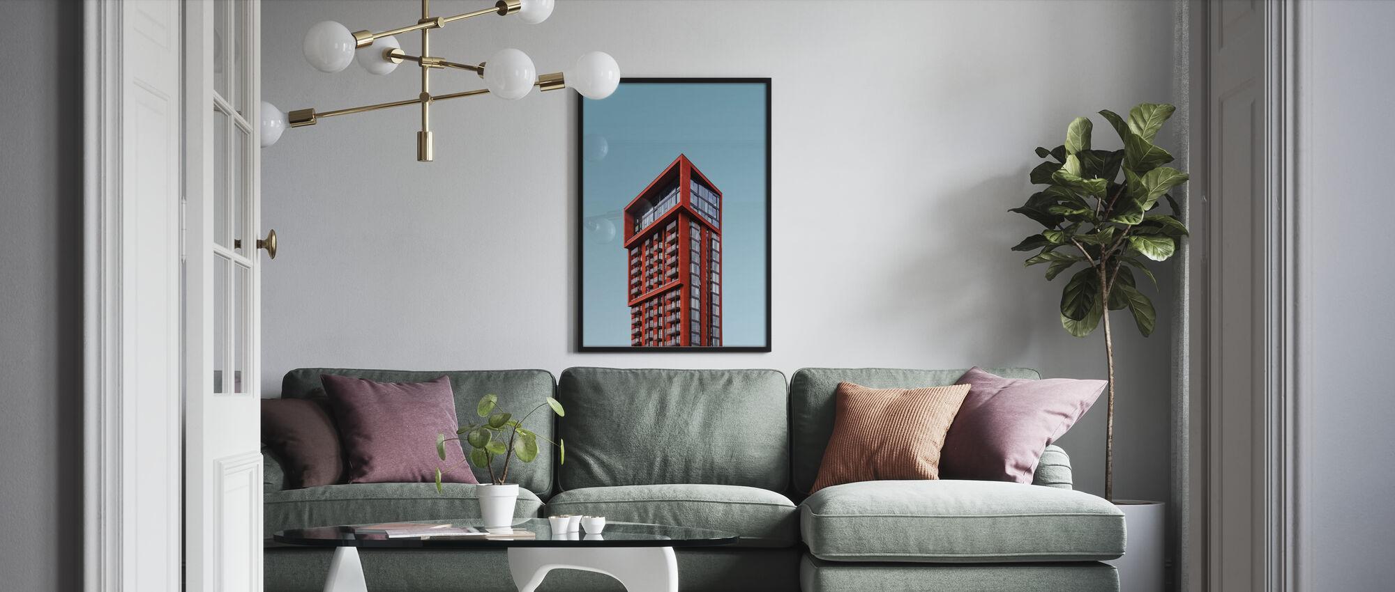 Rød topp - Plakat - Stue