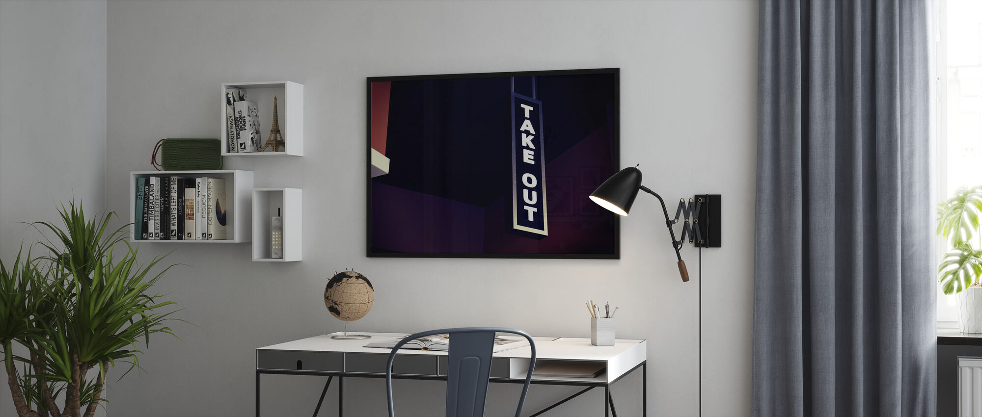 Take Out Sign - Poster - Office
