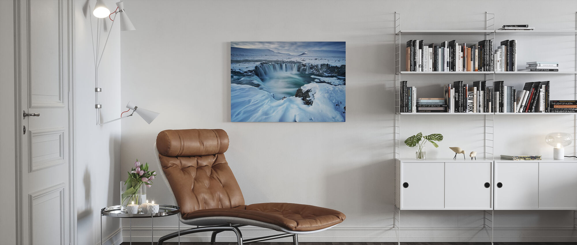 Waterfall of the Gods - Canvas print - Living Room