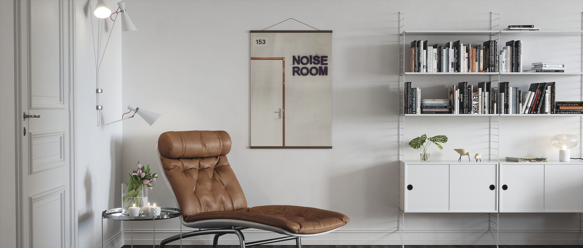 Noise Room Door - Poster - Living Room