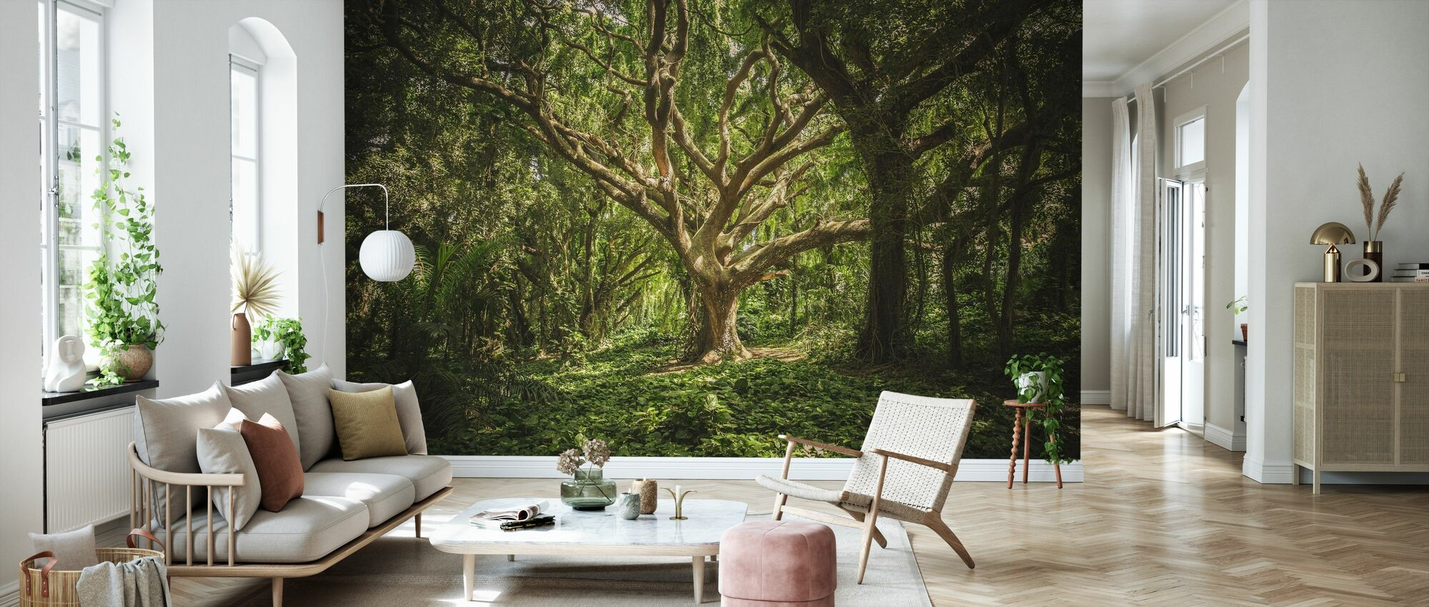 Big Forest Tree - Wallpaper - Living Room