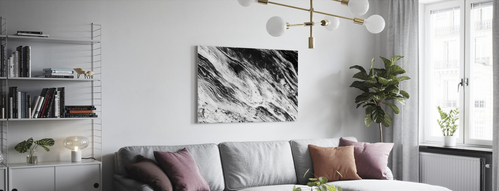 Black and White - Canvas print - Living Room