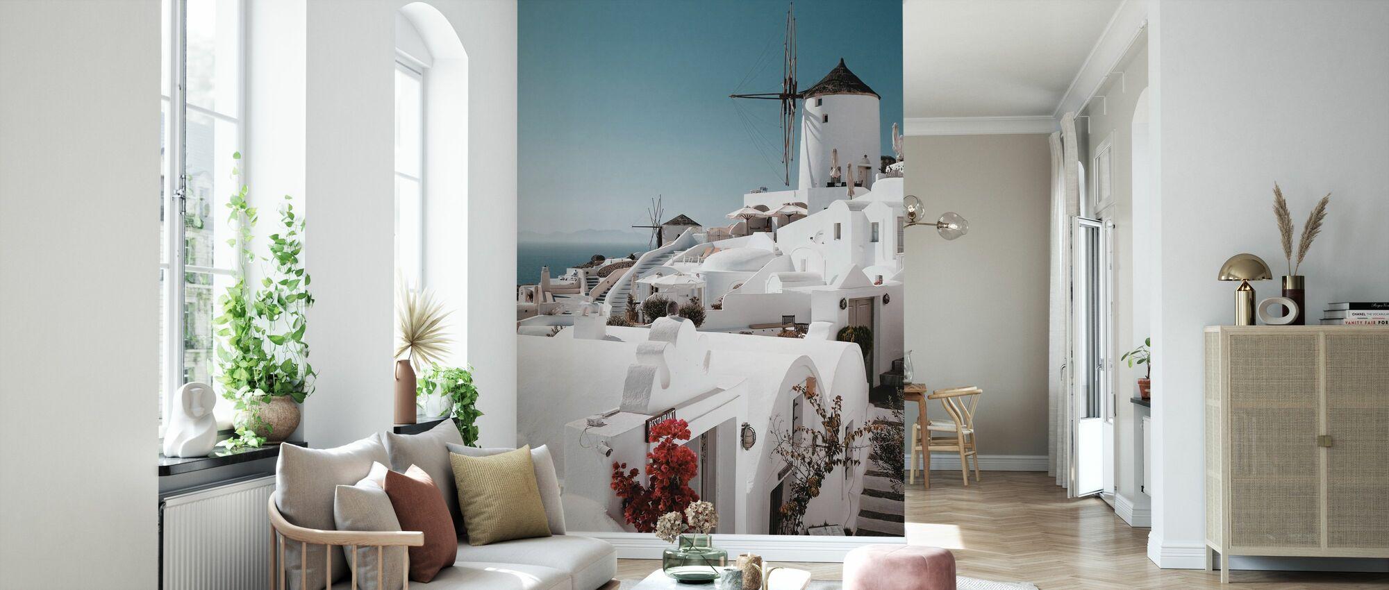 White on White - Wallpaper - Living Room