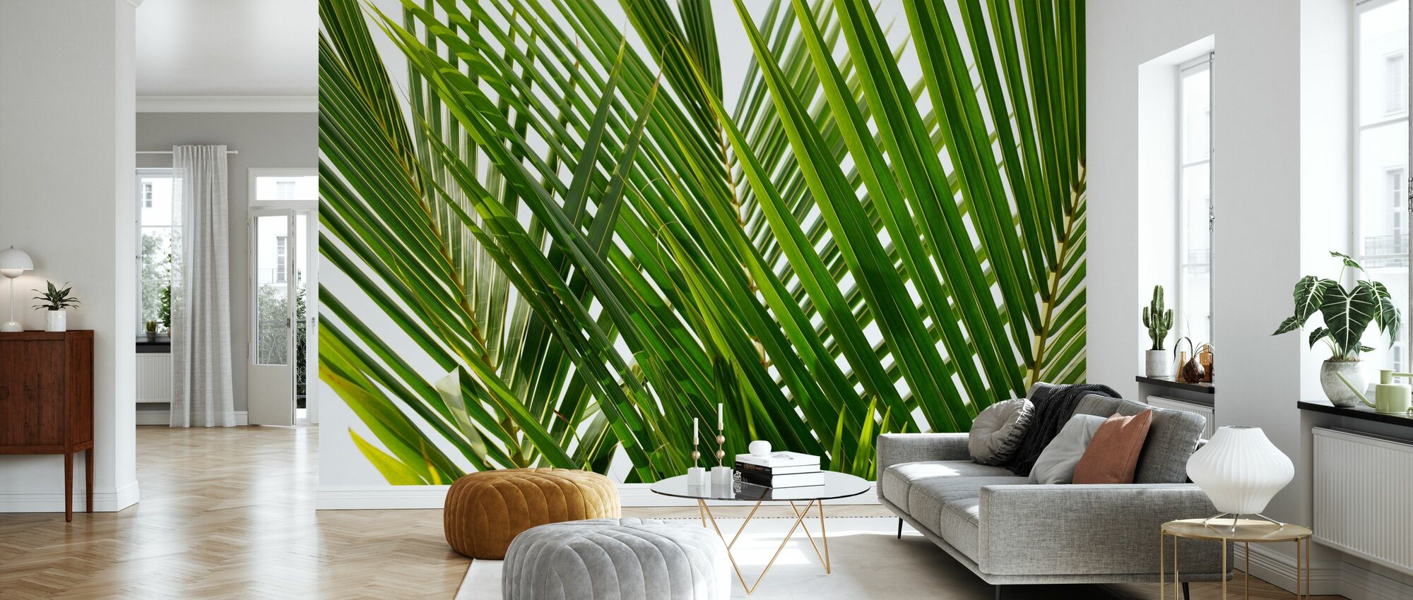 Palm Leaf - Wallpaper - Living Room