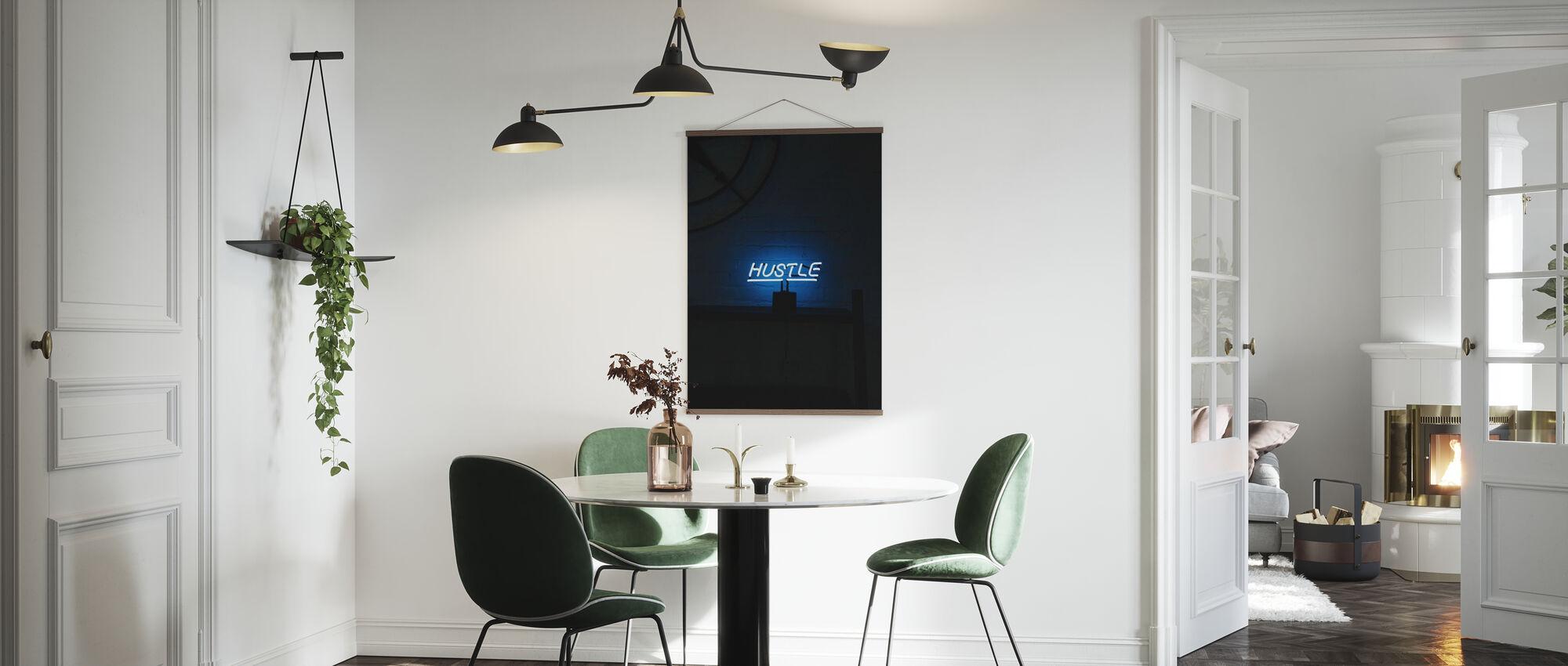 Hustle Neon Sign - Poster - Kitchen