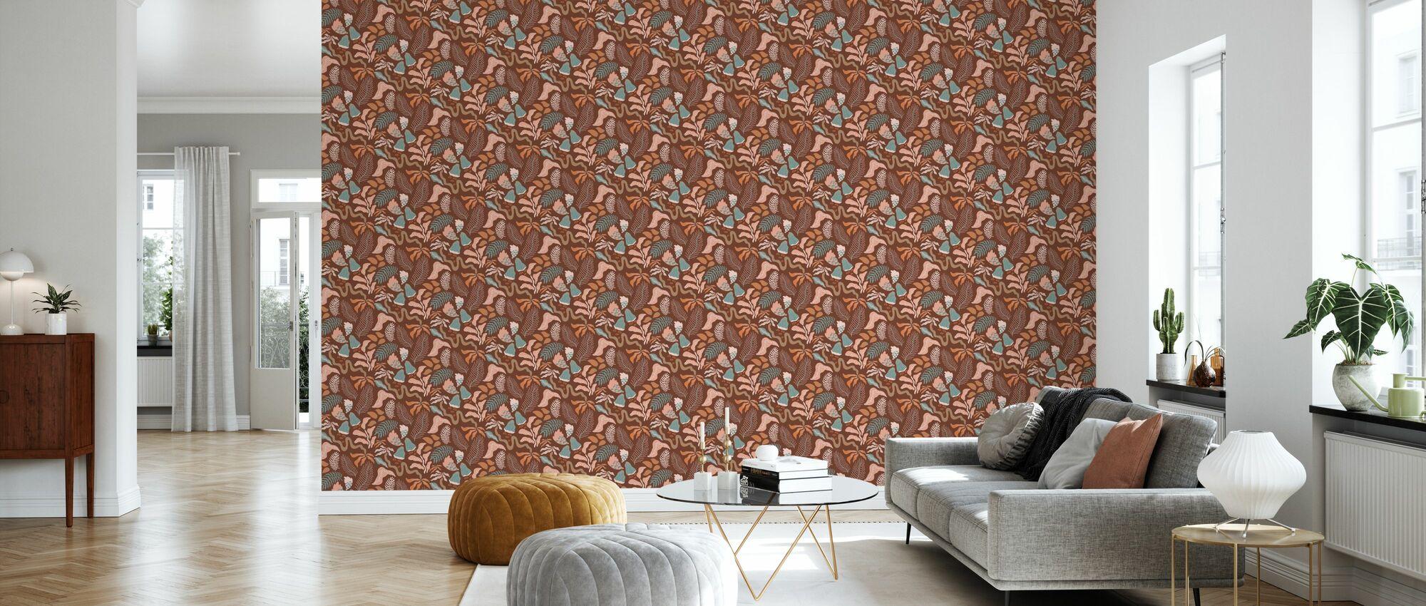 Botanica - Brown - Wallpaper - Living Room