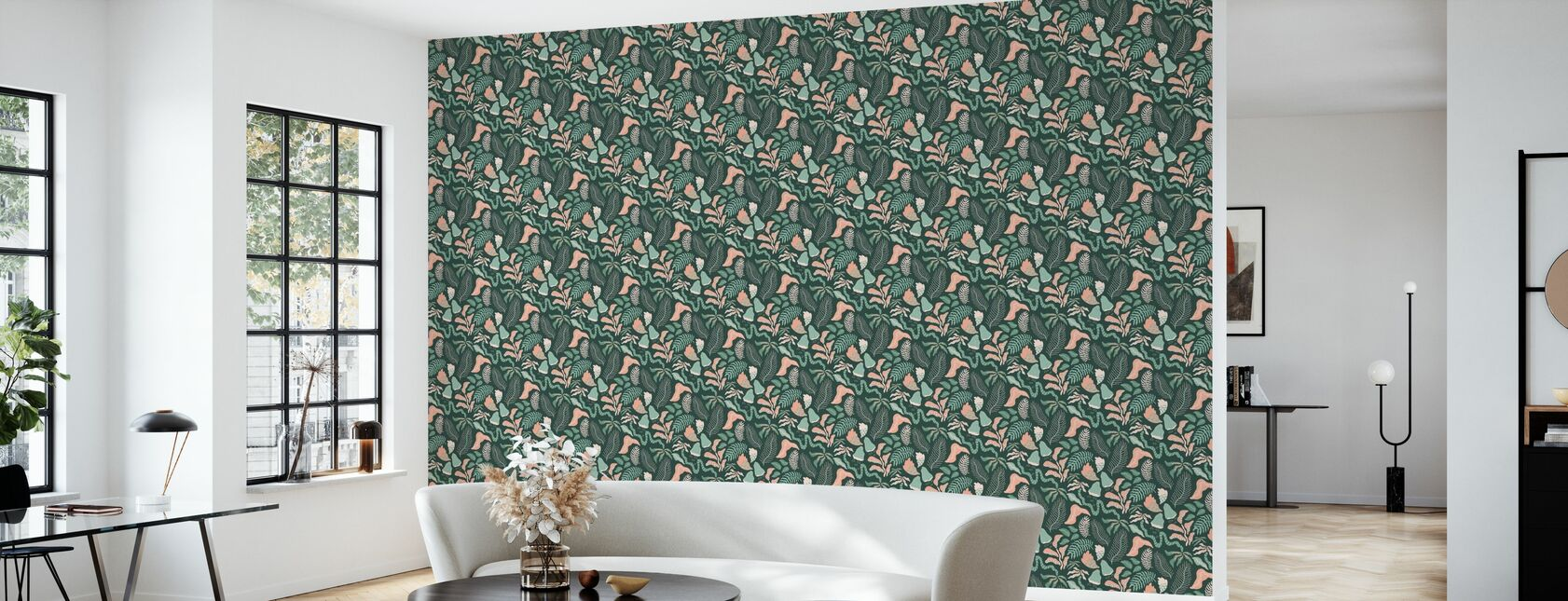 Botanica - Green - Wallpaper - Living Room