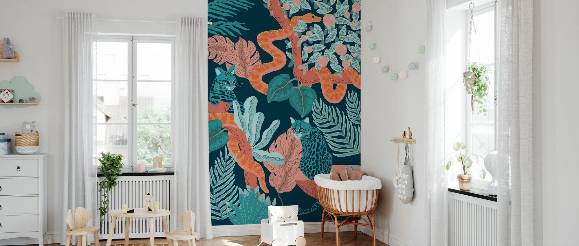 Jungle Cats - Wallpaper - Nursery