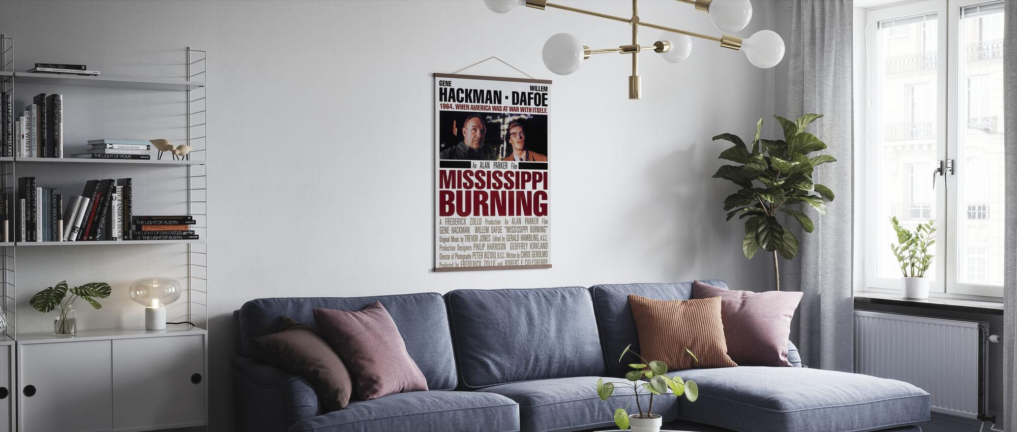 Mississippi branden - Poster - Woonkamer