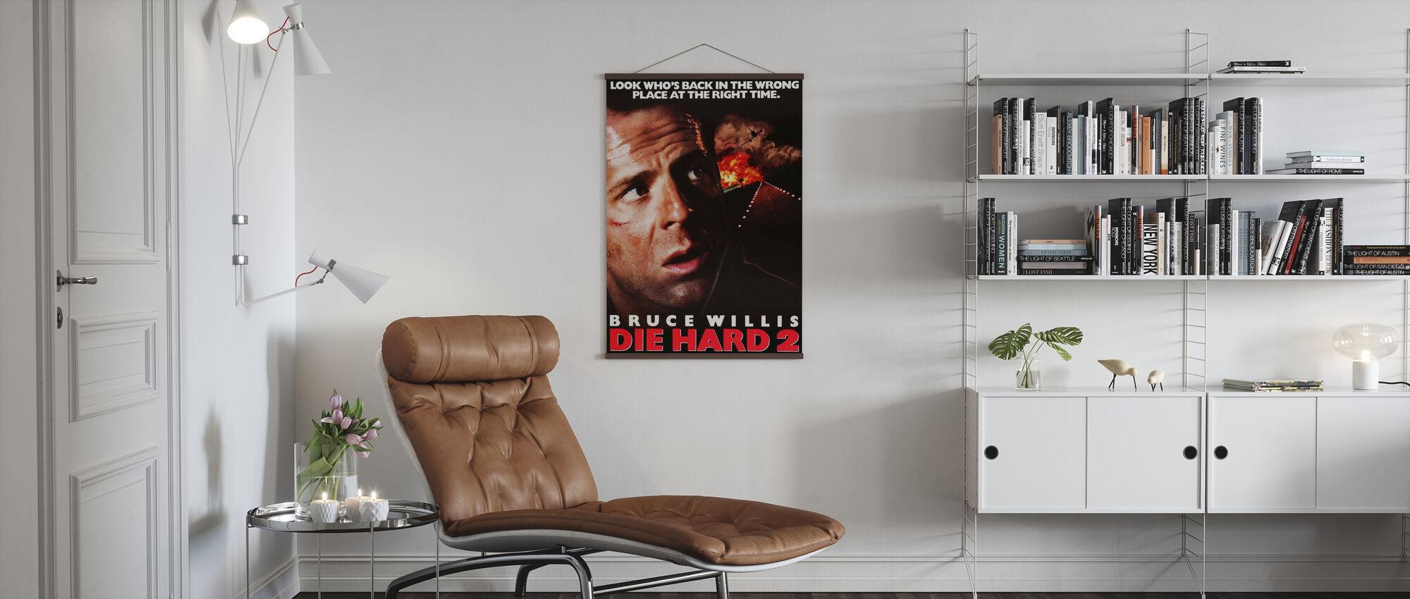 Bruce Willis in Die Schwer 2 - Poster - Wohnzimmer