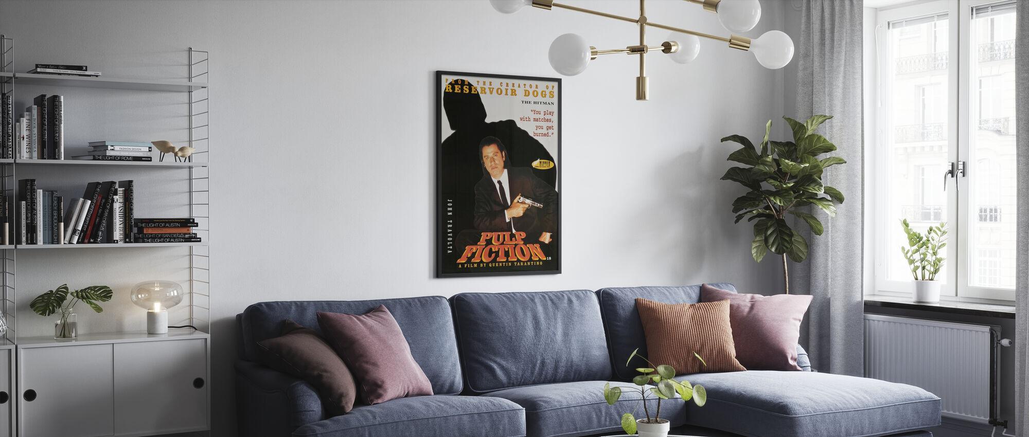 John Travolta in Pulp Fiction - Poster - Woonkamer