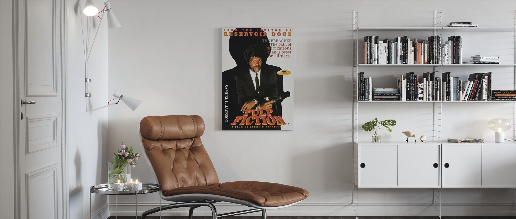 Samuel L Jackson in Pulp Fiction - Canvas print - Living Room