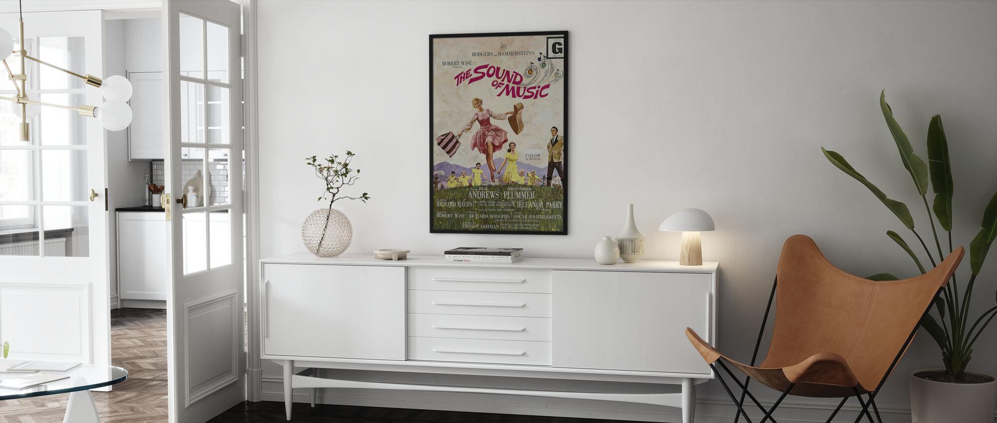Geluid van muziek - Poster - Woonkamer