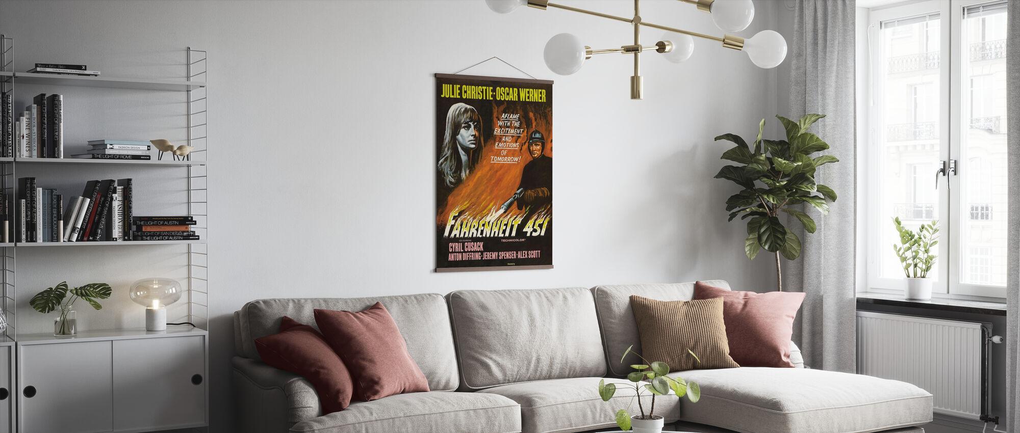Fahrenheit 451 - Poster - Woonkamer