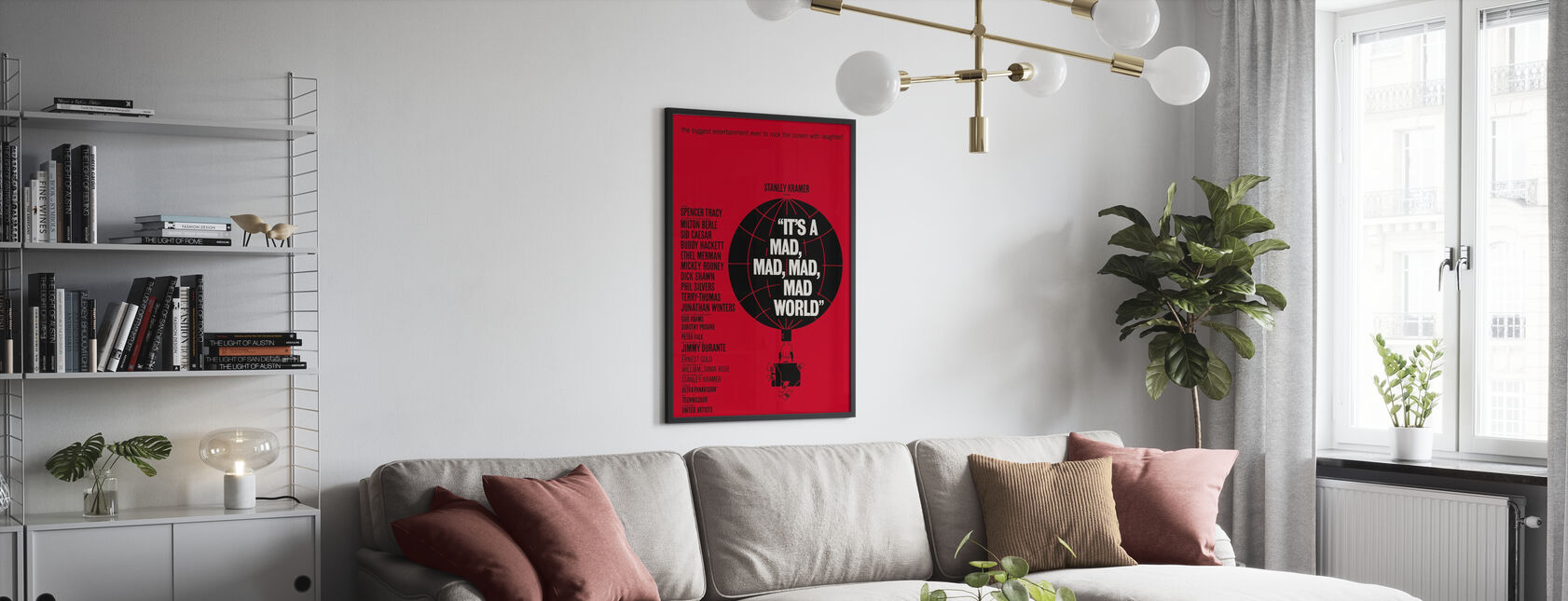 Its a Mad Mad Mad Mad World - Framed print - Living Room