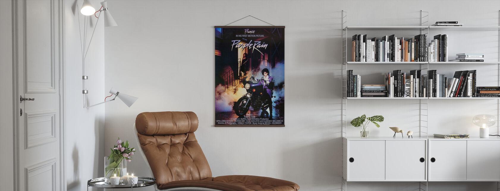 Prince in paarse regen - Poster - Woonkamer