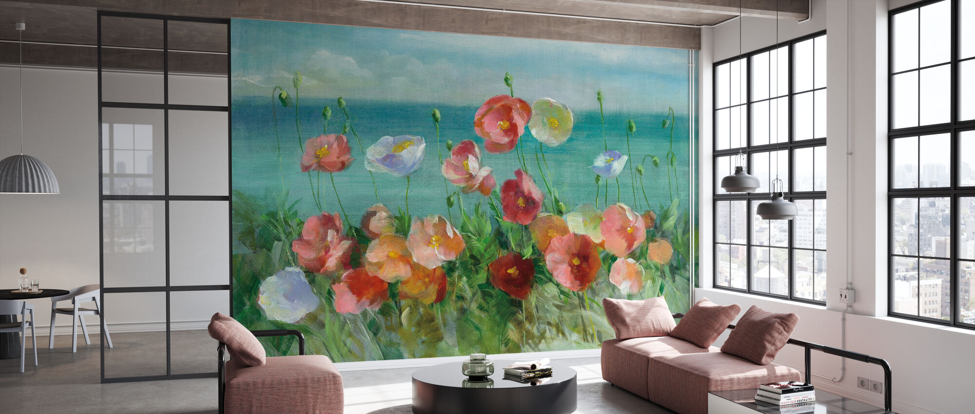 Coastal Poppies - Wallpaper - Office