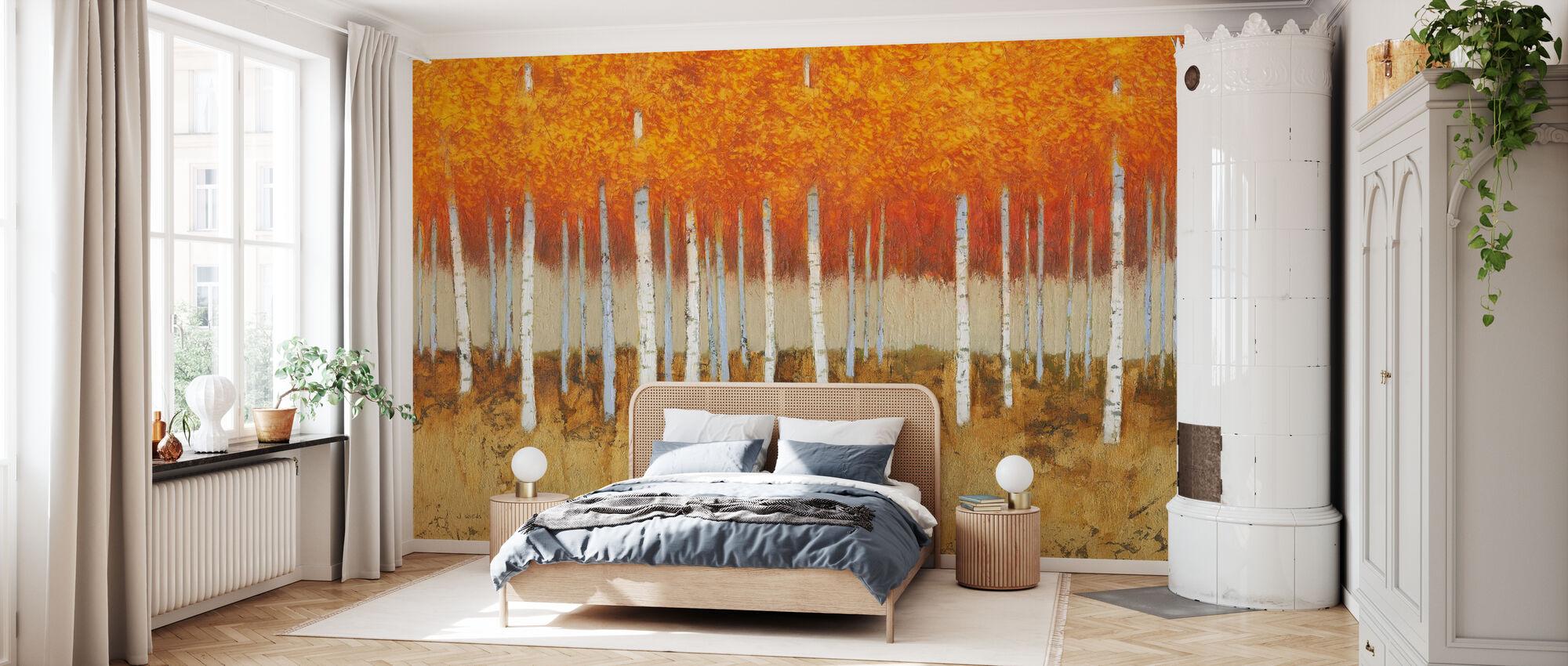 Autumn Birches - Wallpaper - Bedroom