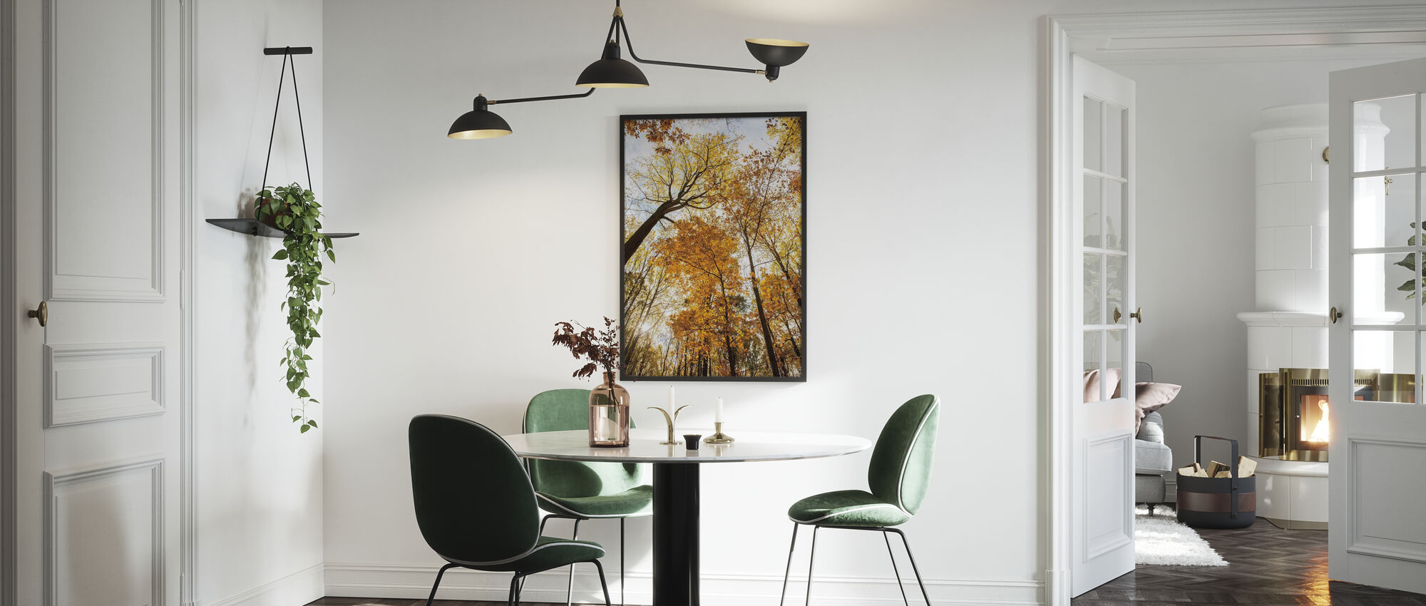 Towering Trees II - Framed print - Kitchen