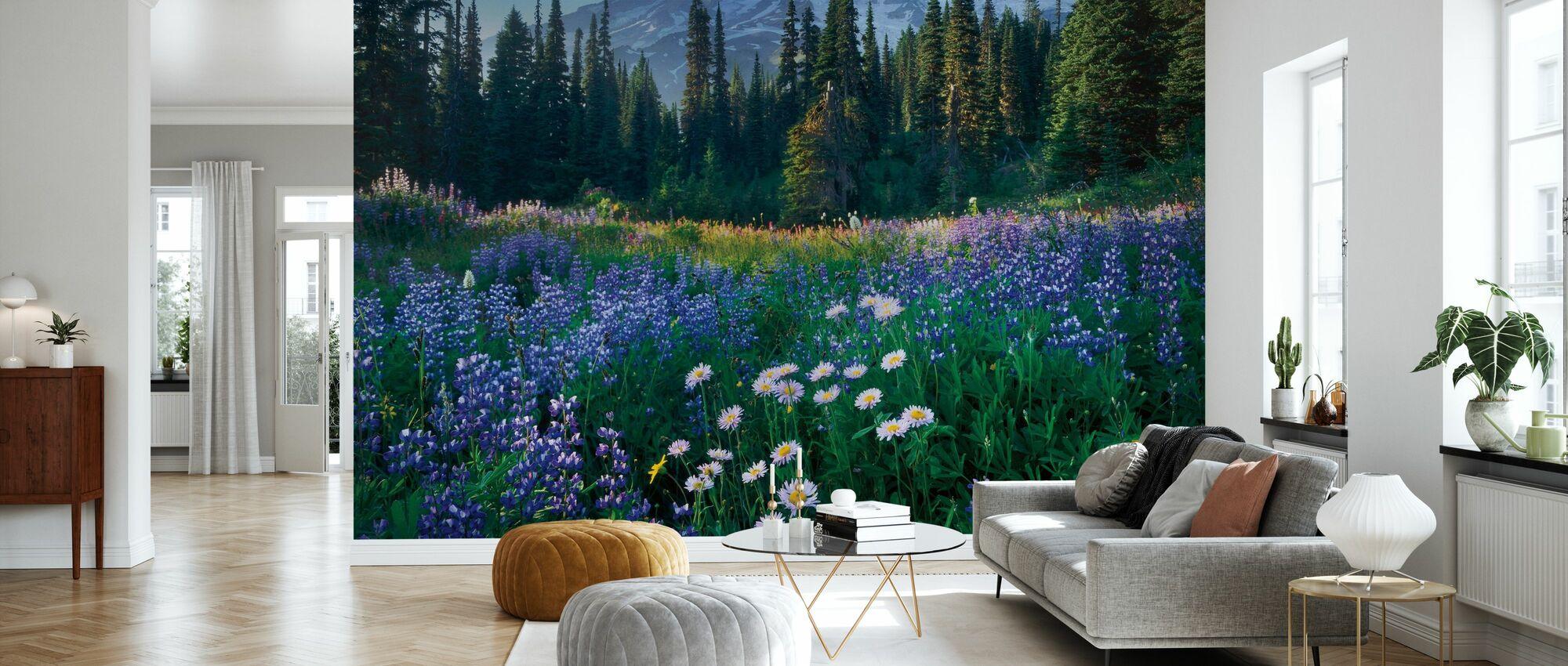 Mount Rainier - Wallpaper - Living Room