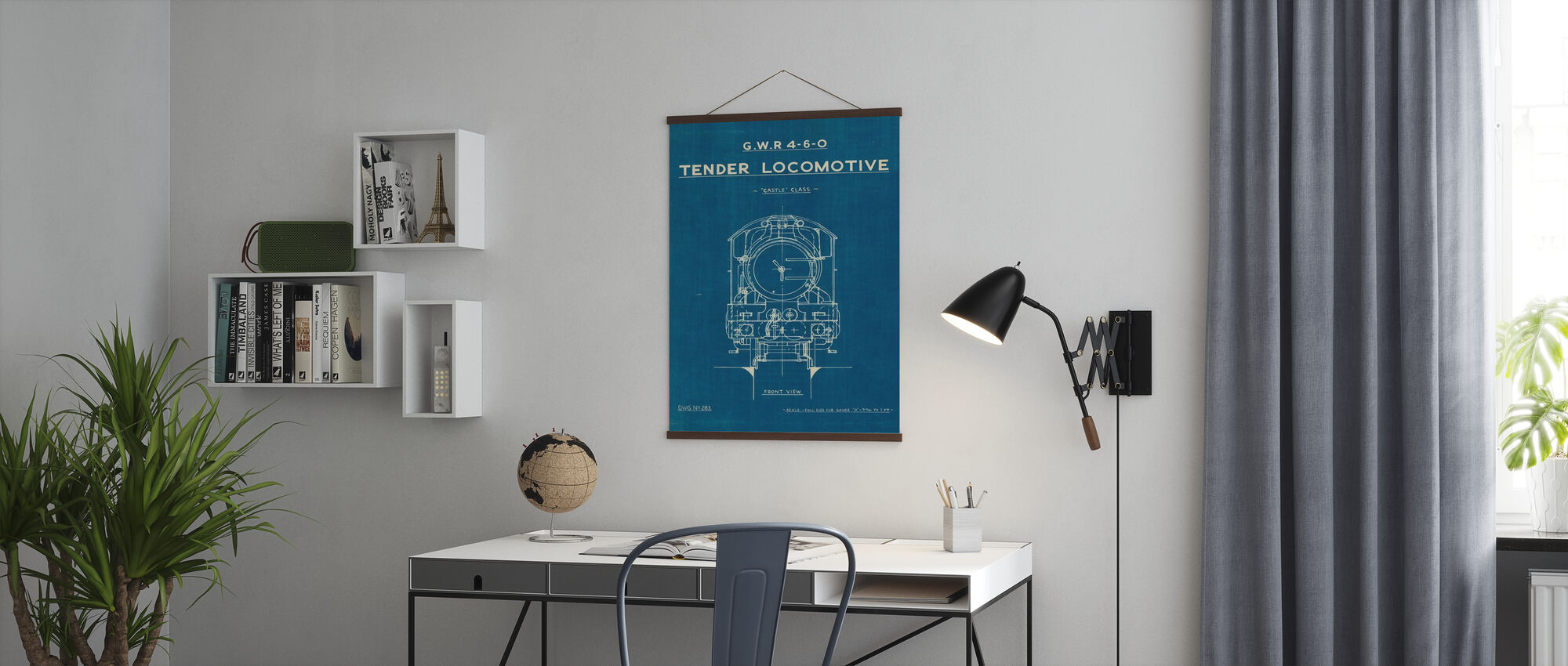 Lokomotiv Blåkopi II - Plakat - Kontor