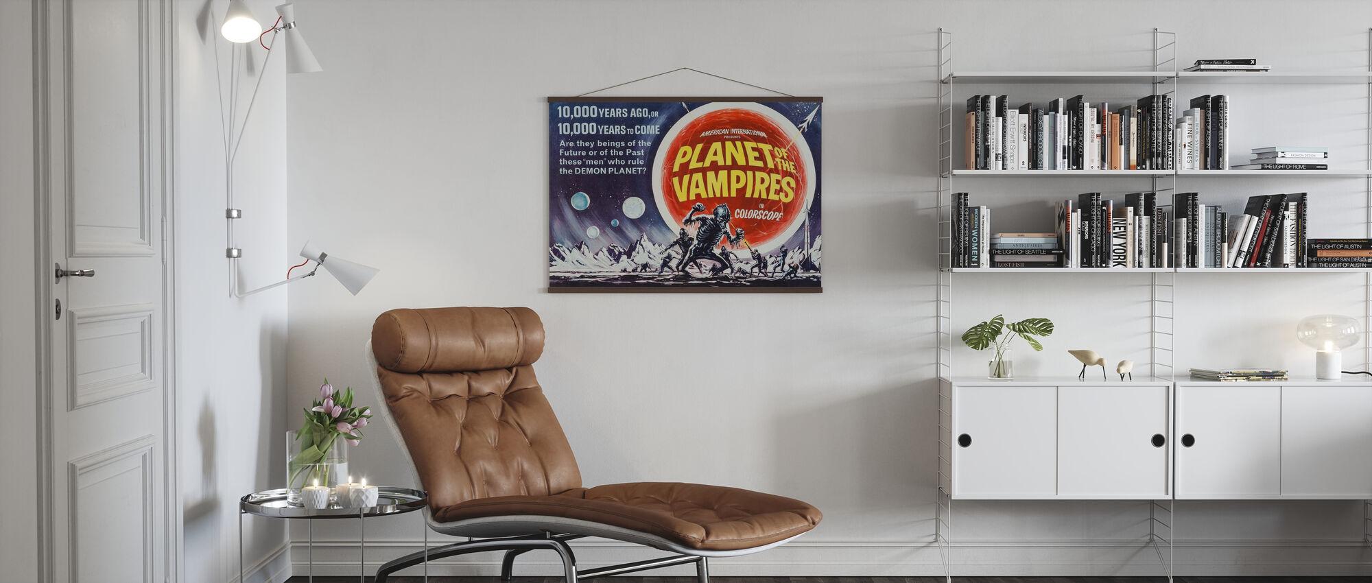 Planeet van de Vampiers - Poster - Woonkamer