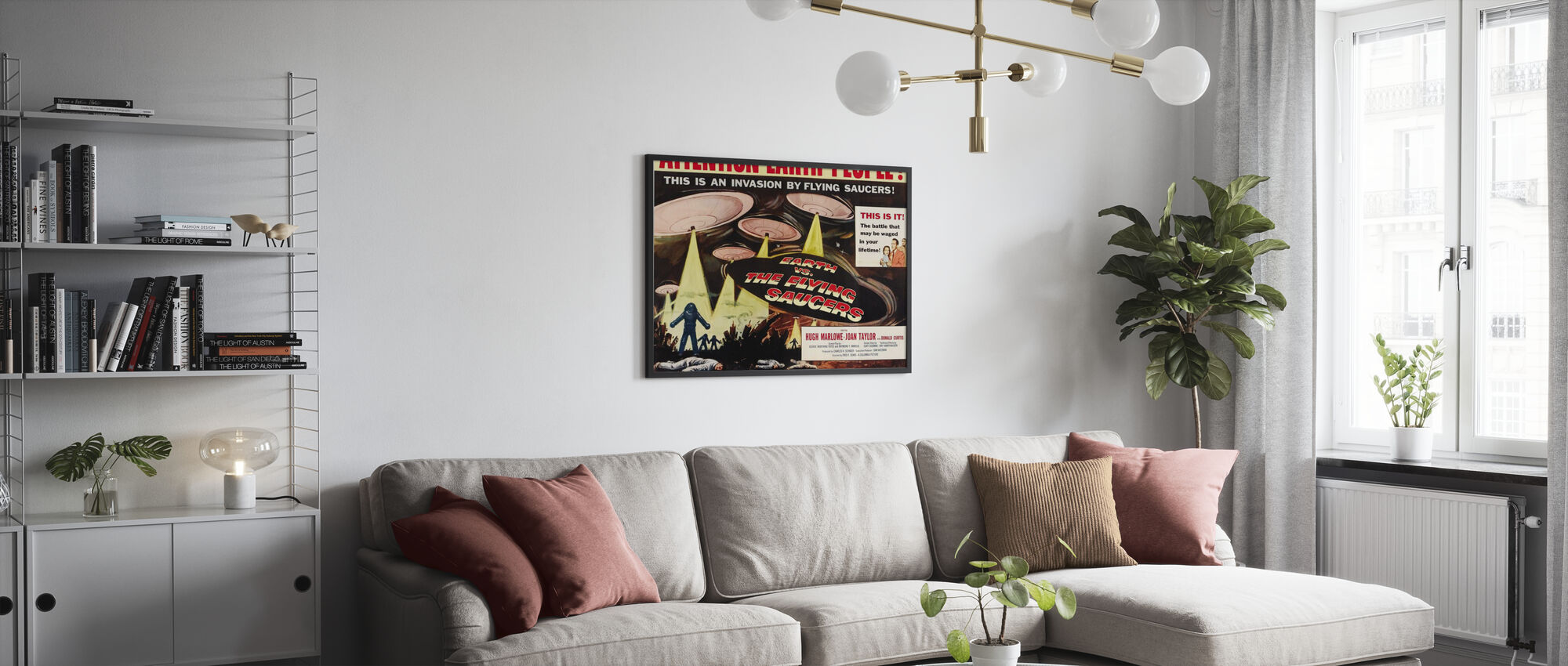 Aarde vs De vliegende schotel - Poster - Woonkamer