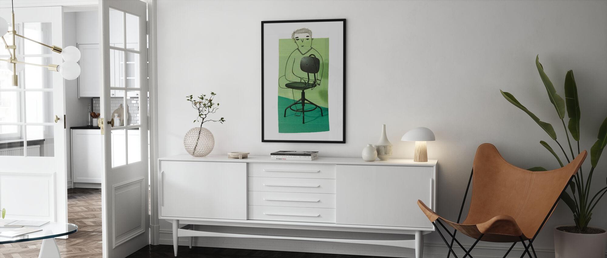 Sitting - Framed print - Living Room